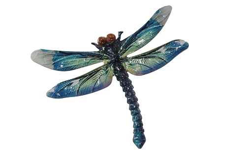 Metal Dragonfly Wall Hanging (Blue)